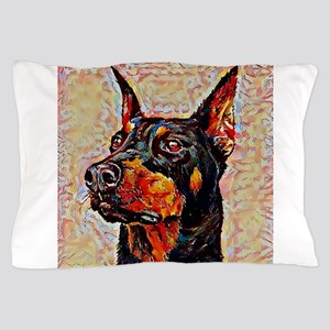 Doberman Pinscher: A Portrait in Oil Pillow Case